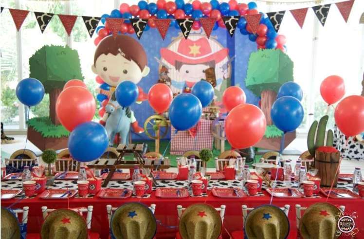 Cowboy Theme Birthday Party Decoration