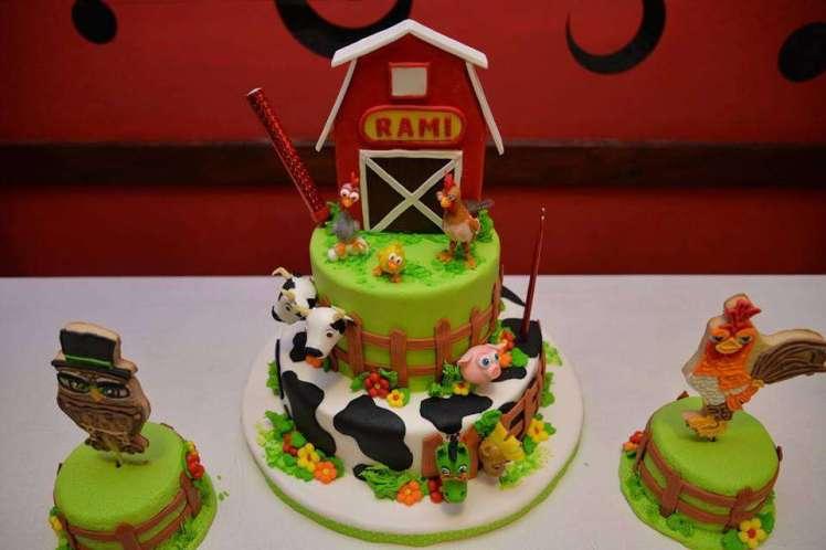 Farm Theme Birthday Party Cake 3