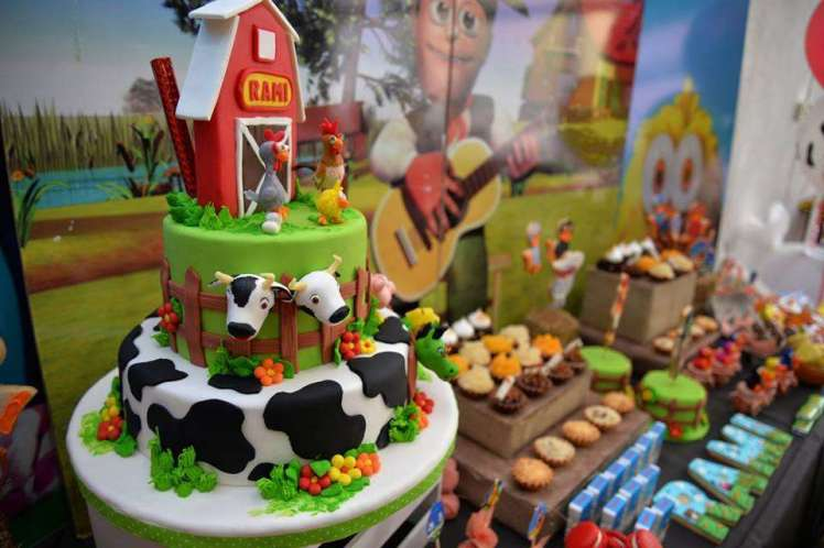Farm Theme Birthday Party Cake