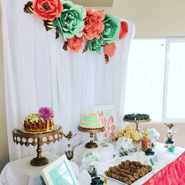 Floral Theme Birthday Party Decoration 6