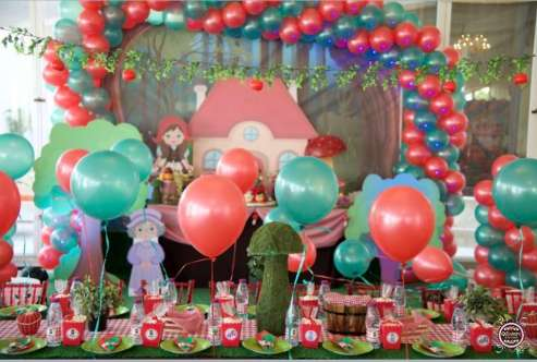 Little Red Riding Hood Theme Birthday Party Decoration