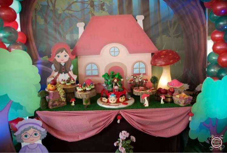 Little Red Riding Hood Theme Birthday Party