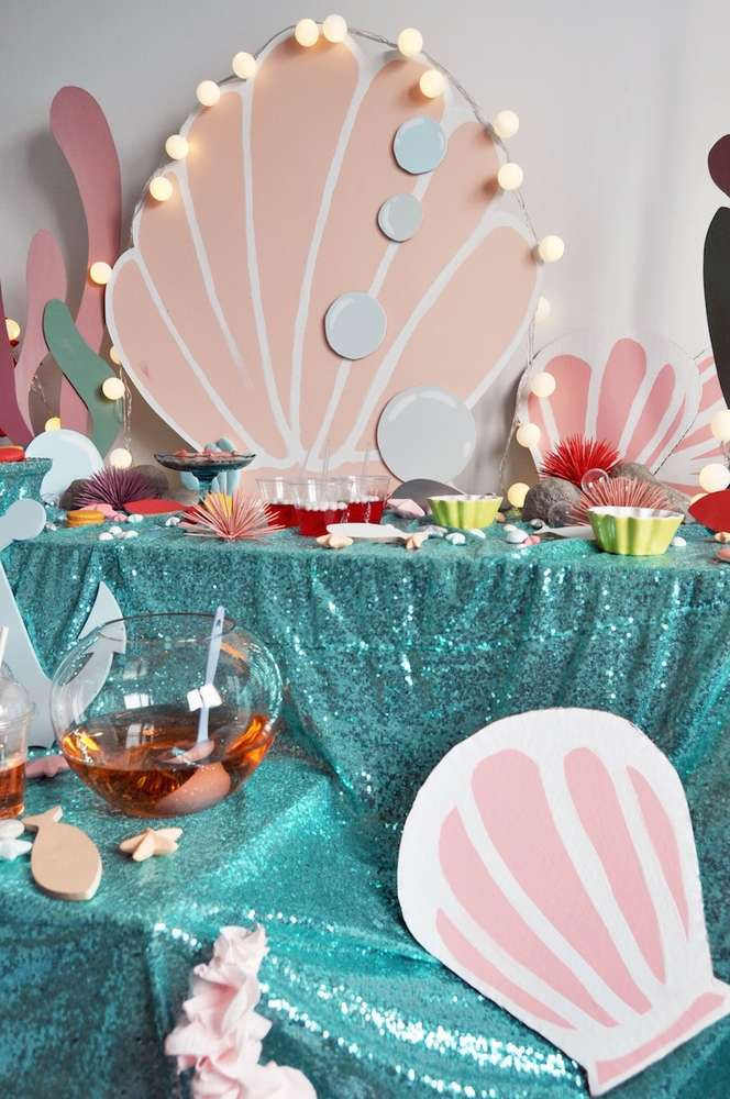 Mermaid Theme Birthday Party Decoration 3