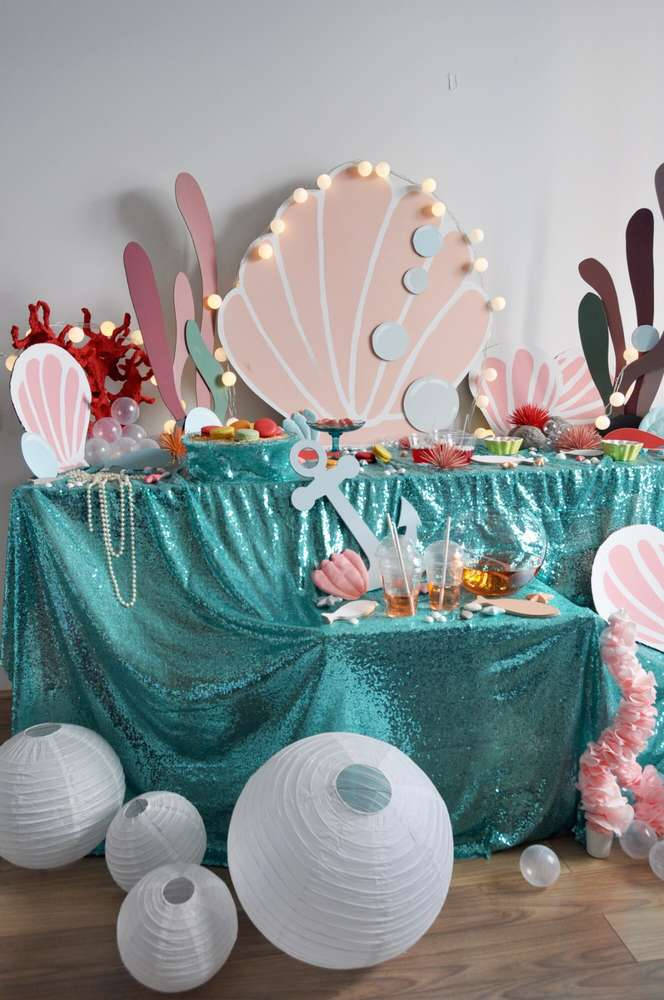 Mermaid Theme Birthday Party Decoration