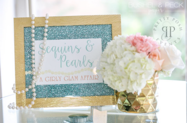 Sequins and Pearls Theme Birthday Party Decoration 3