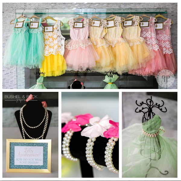 Sequins and Pearls Theme Birthday Party Decoration 5