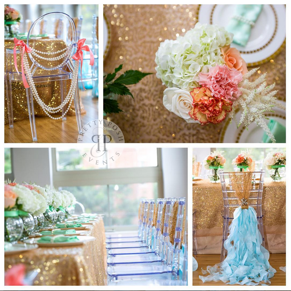 Sequins and Pearls Theme Birthday Party Decoration