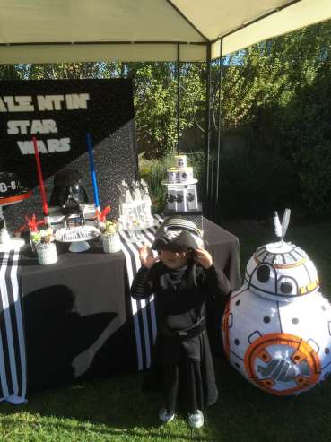 Star Wars Theme Birthday Party Birthday Boy 2