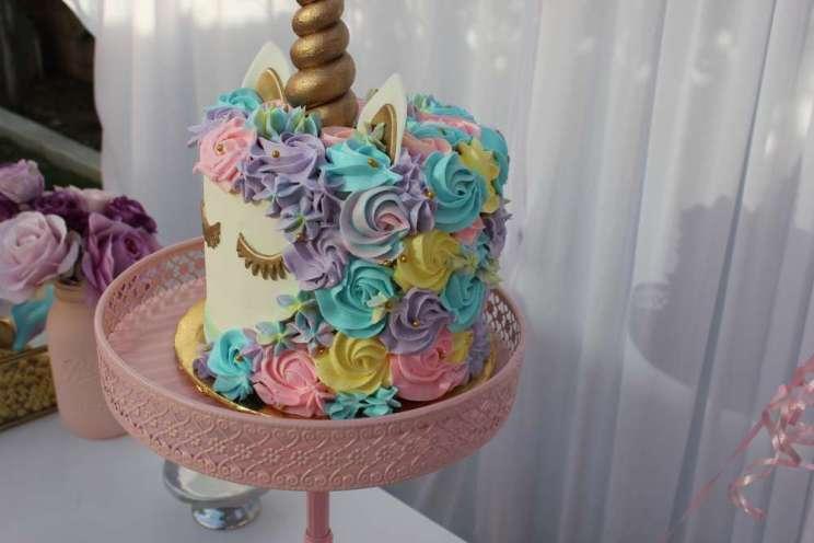 Unicorn Theme Birthday Party Cake 2