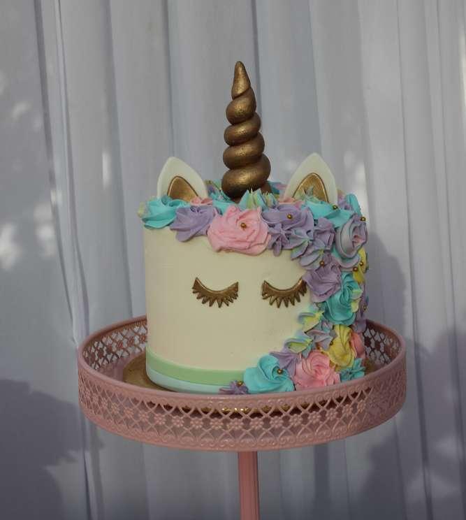 Unicorn Theme Birthday Party Cake
