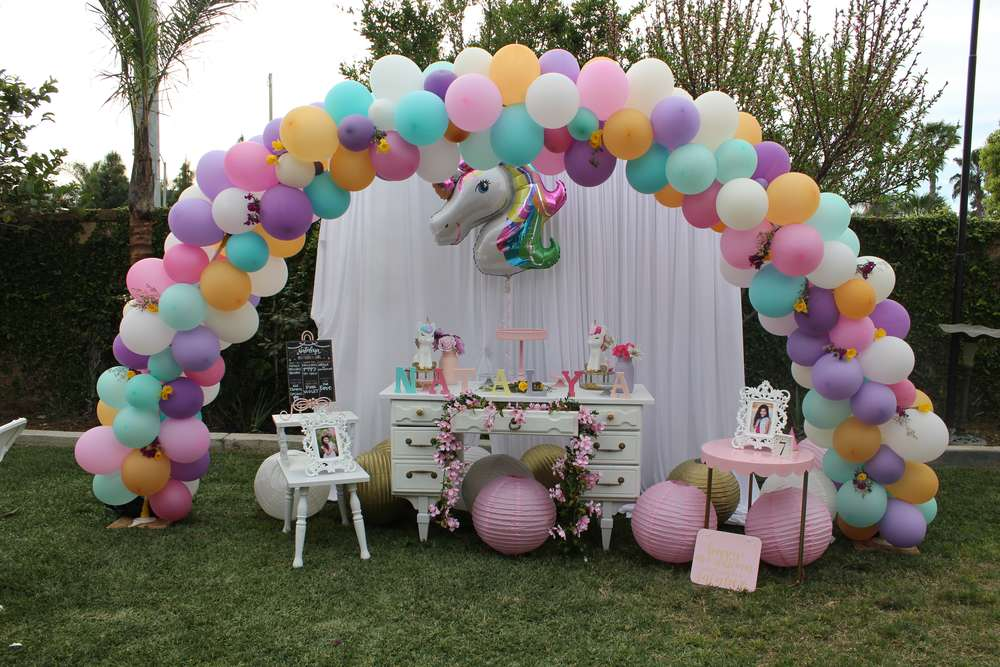 Unicorn Theme Birthday Party Decoration 8 Venuemonk Blog