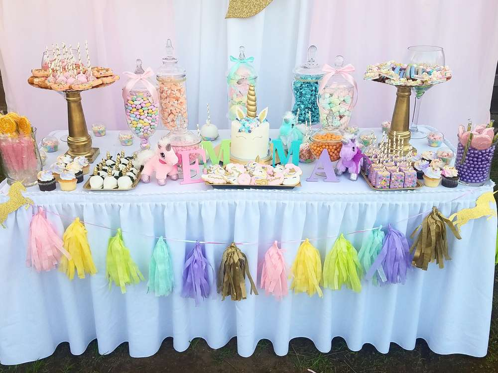 Unicorn theme party decoration venuemonk blog for Baby shower decoration ideas blog