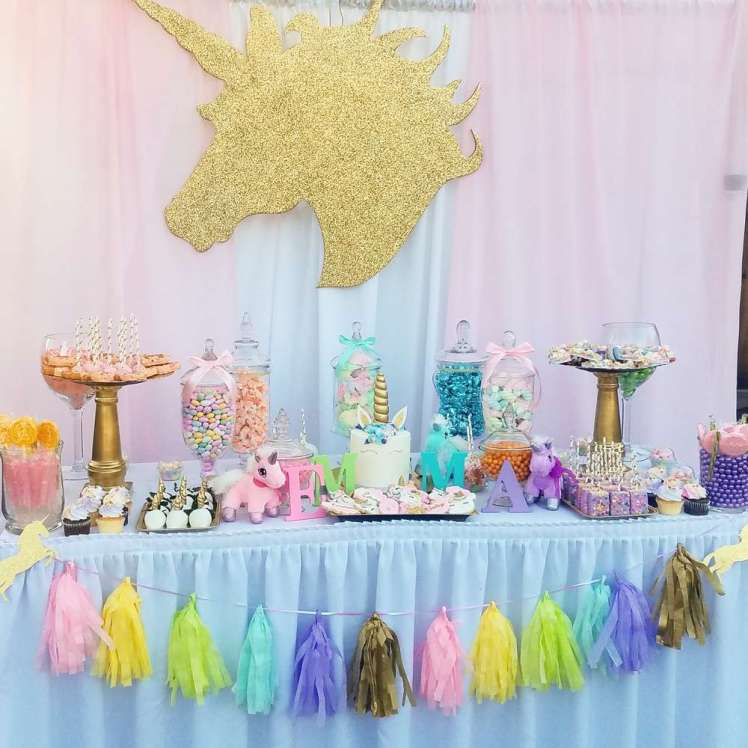 Unicorn theme baby shower venuemonk blog for Baby shower decoration blog