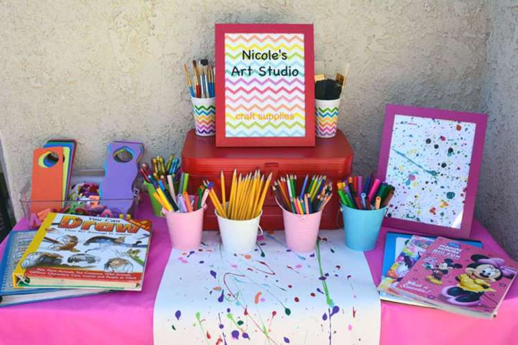 Art Theme Birthday Party Activities