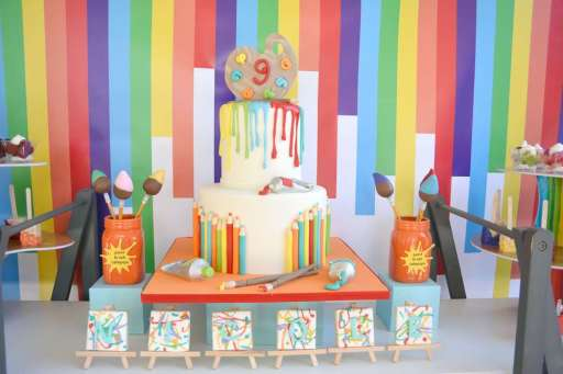 Art Theme Birthday Party Cake 1
