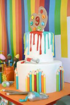 Art Theme Birthday Party Cake 2