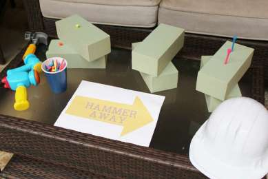 Construction Theme Birthday Party Activity
