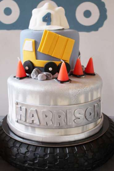 Construction Theme Birthday Party Cake 3