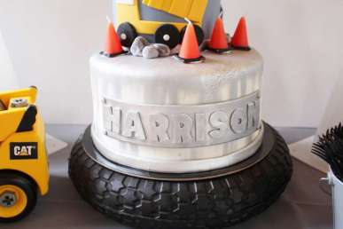 Construction Theme Birthday Party Cake