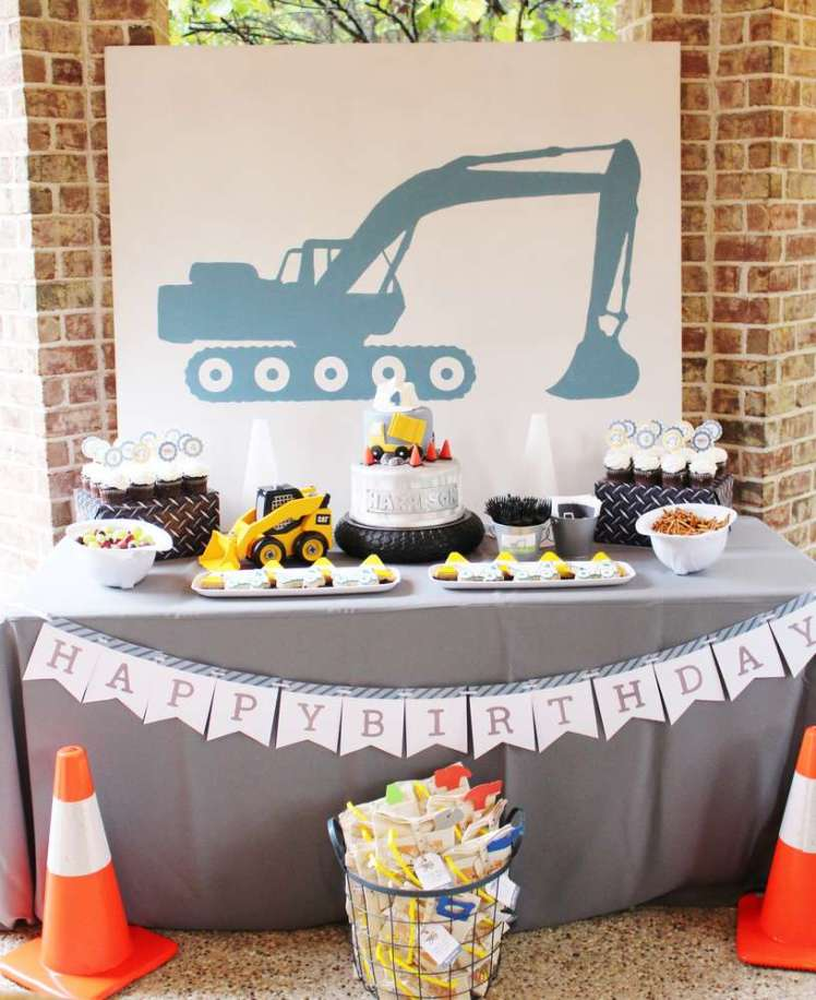 Construction Theme Birthday Party Decoration
