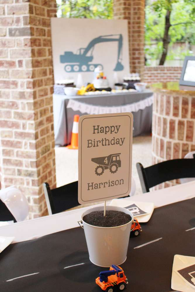 Construction Theme Birthday Party Venue