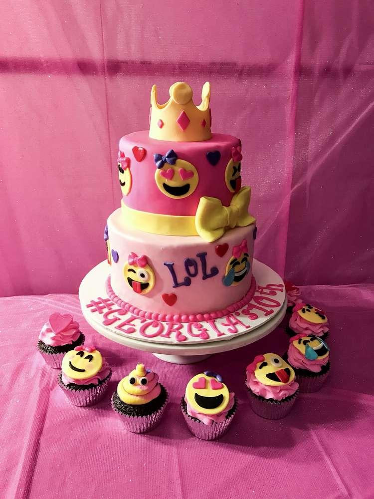 Emoji Theme Birthday Party Cake