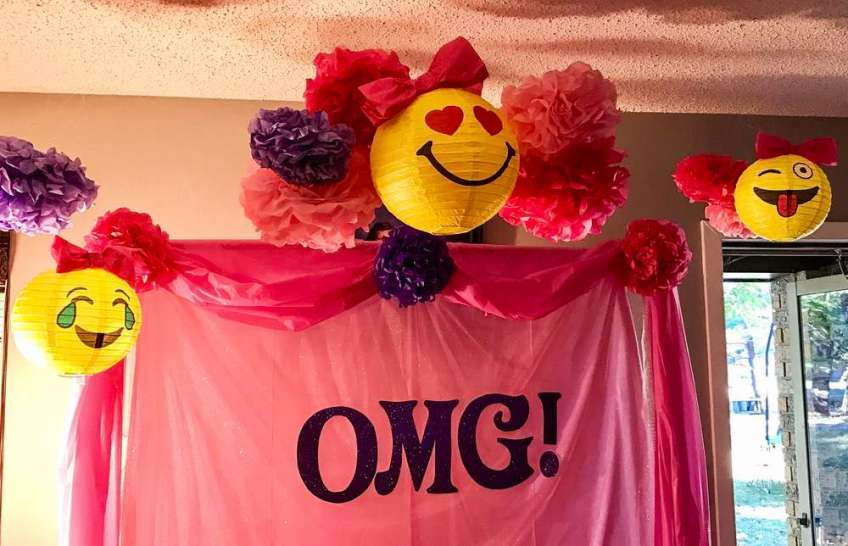Emoji Theme Birthday Party Decoration