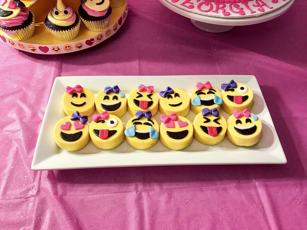 Pink Emoji Theme Birthday Party