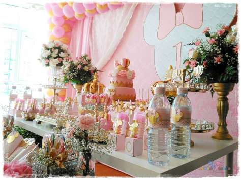 Gold Princess Theme Birthday Party Decoration 2