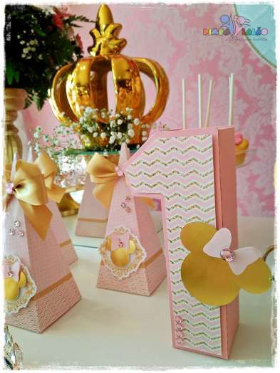 Gold Princess Theme Birthday Party Decoration 4