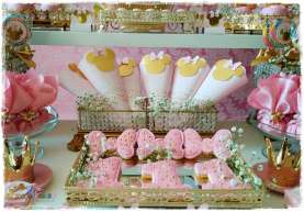 Gold Princess Theme Birthday Party Decoration 7