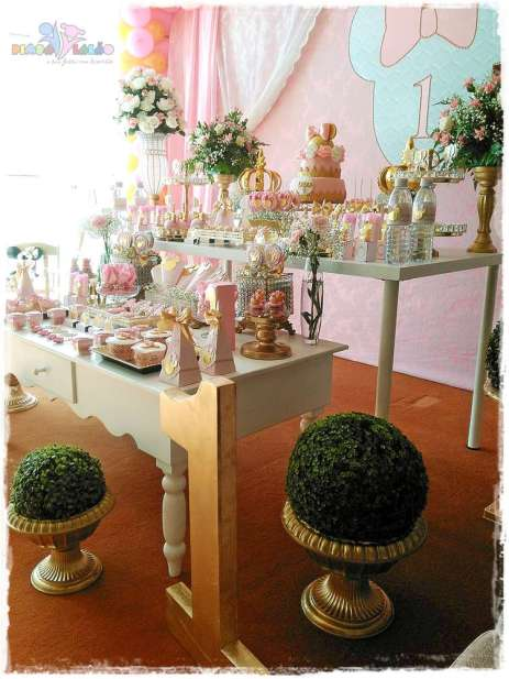 Gold Princess Theme Birthday Party Decortion 6