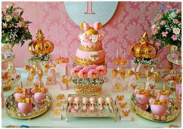 Gold Princess Theme Birthday Party