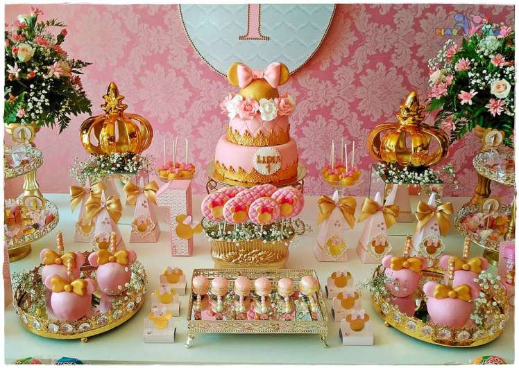 Gold Princess Theme Birthday Party