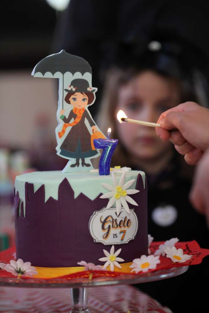 Jolly Holiday Mary Poppins Birthday Party Cake 2