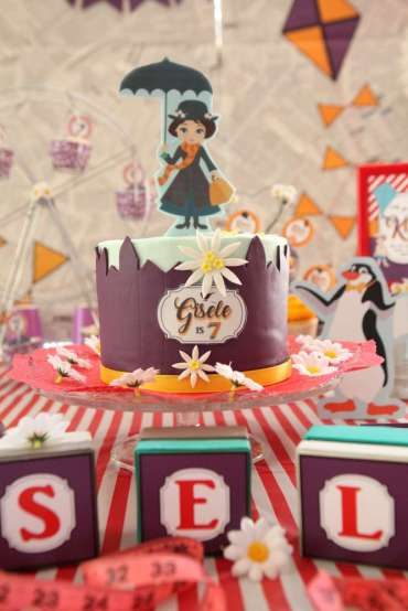 Jolly Holiday Mary Poppins Birthday Party Cake 3