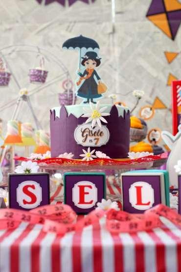 Jolly Holiday Mary Poppins Birthday Party Cake