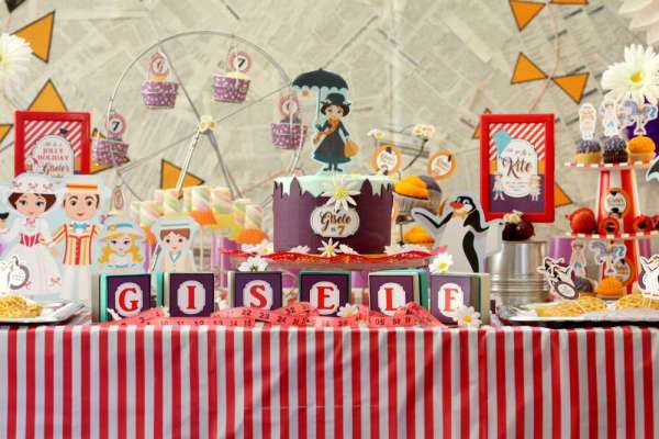 Jolly Holiday Mary Poppins Birthday Party Decoration 4