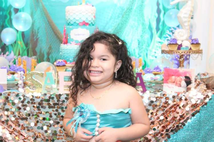Little Mermaid Theme Birthday Party Birthday Girl 2