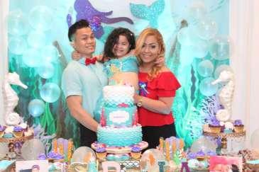 Little Mermaid Theme Birthday Party Birthday Girl