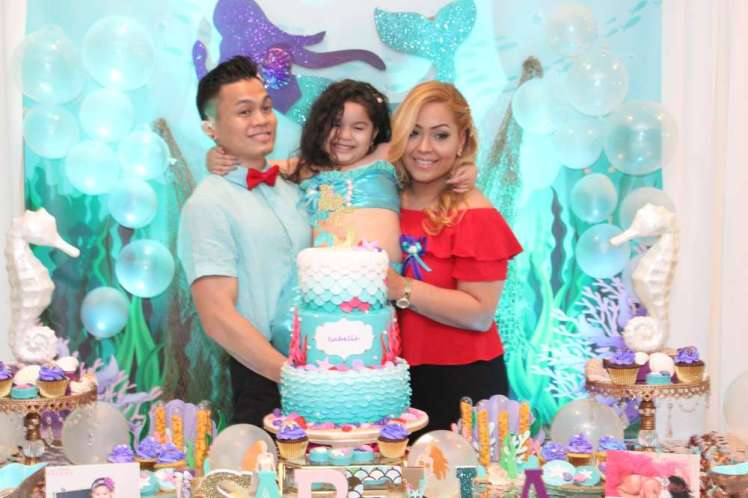 Little Mermaid Theme Birthday Party Birthday Girl
