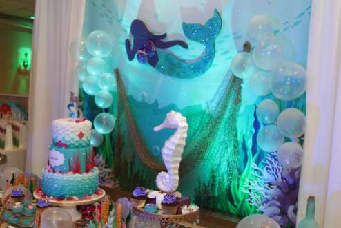 Little Mermaid Theme Birthday Party Decoration 2