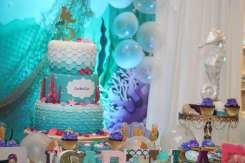 Little Mermaid Theme Birthday Party Decoration 4