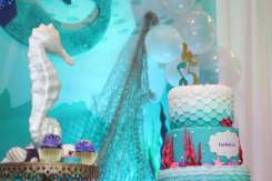 Little Mermaid Theme Birthday Party Decoration 6