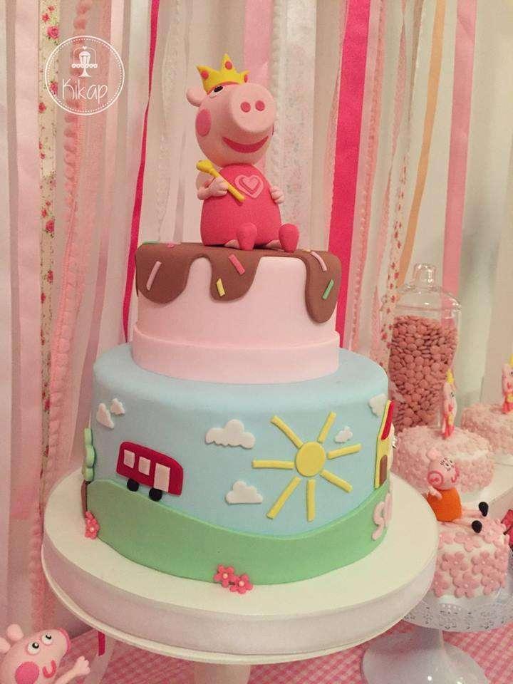 Peppa Pig Theme Birthday Party Cake