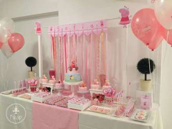 Peppa Pig Theme Birthday Party Decoration 2
