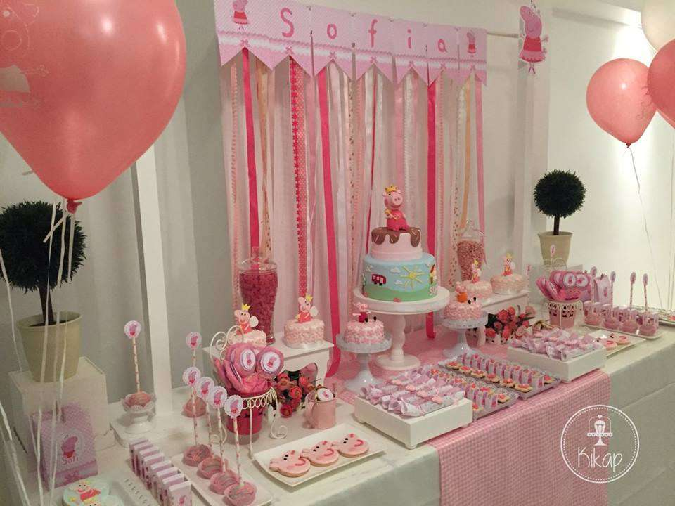 Peppa Pig Theme Birthday Party Decoration 3 Venuemonk Blog
