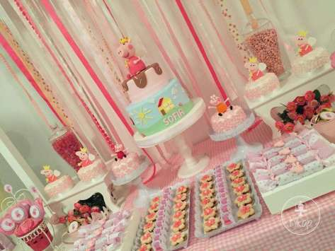 Peppa Pig Theme Birthday Party Decoration