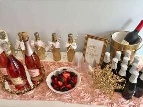 Pretty Posh Gold Theme Cocktail Party Food 7