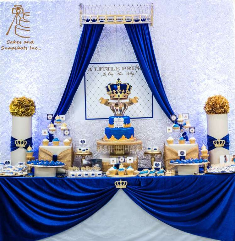 Royal Prince Theme Baby Shower Decoration 4